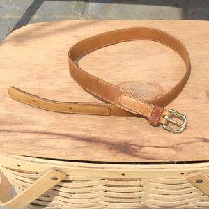 Norm Thompson thin leather belt